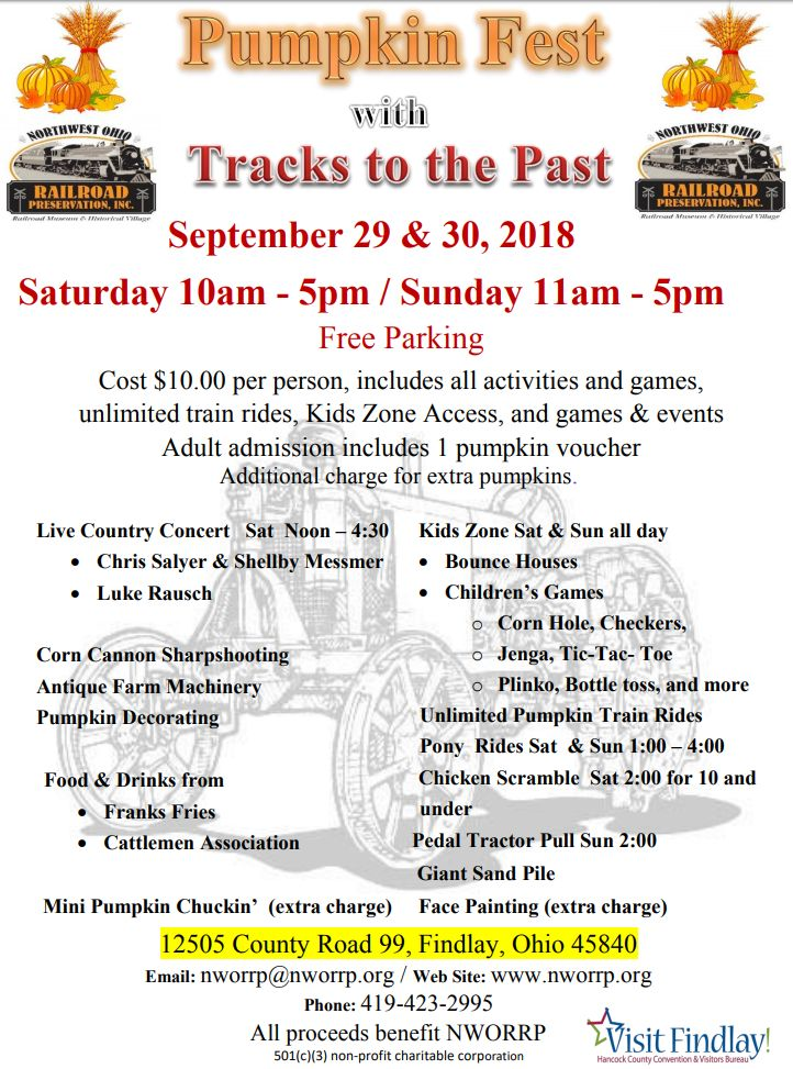Going on NOW – Pumpkin Fest & Tracks to the Past