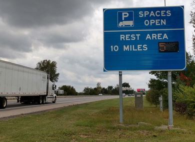 ODOT launches new truck parking information system