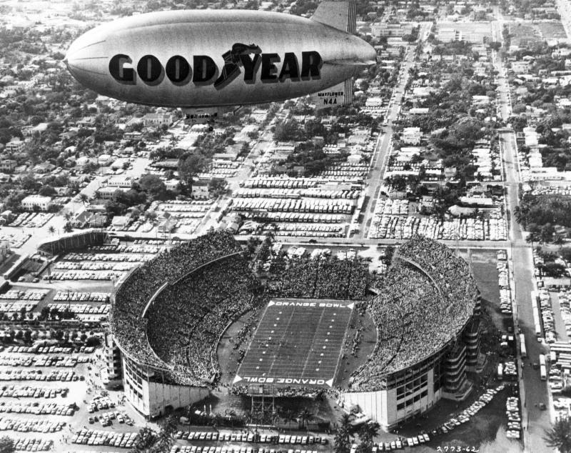Goodyear Blimp Named Honorary Member of College Football Hall of Fame