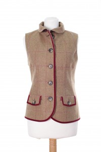 LTW08 Ladies tweed gilet