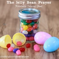 The Jelly Bean Prayer Jar and Coloring Sheet Printable