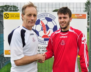 Civil Service manager Alex Cunnignham welcomes Matthew Cunningham to Marine Drive. Mattie featured in the East of Scotland league for the past few seasons with Spartans.