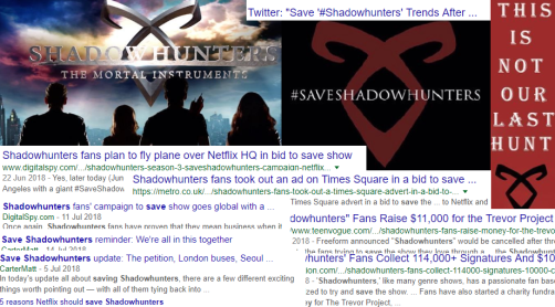 Saving Shadowhunters In The News