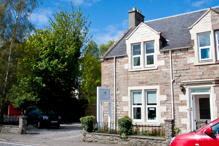 Picture of the front of The Ness Guest House bed and breakfast, Inverness