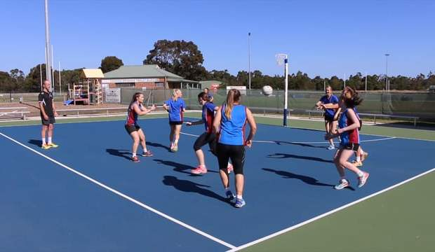 Ball tag drill netball coach coaching video