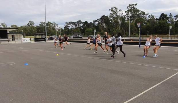 Netball coaching fitness sprint drill