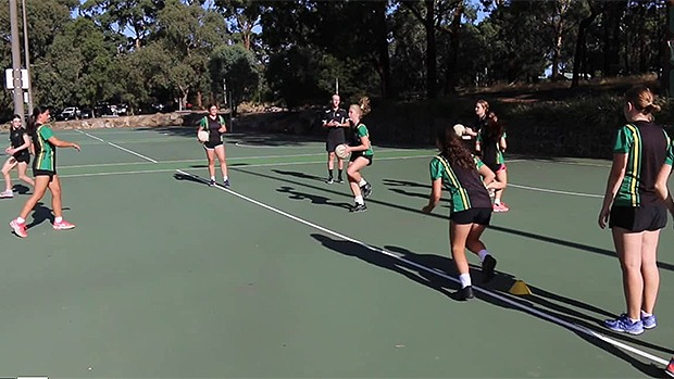 Netball coaching drills videos skills