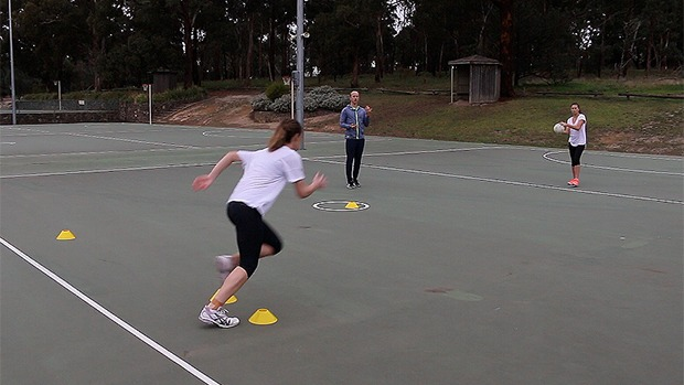Netball footwork drill video coaching