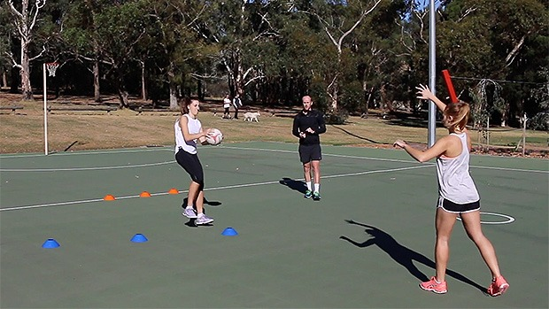Netball footwork drill cones