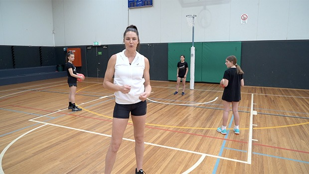 Sharni Layton netball drill double circle surprises