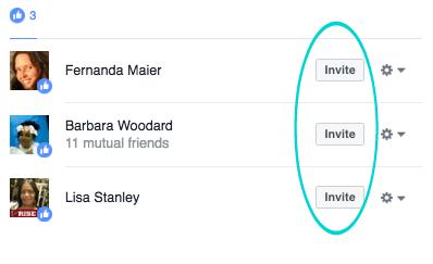 Invite Facebook Fans
