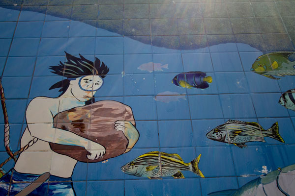 Murals at the Sponge Docks, Tarpon Springs, Florida