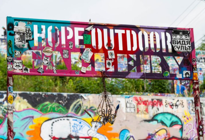 Street Art at Hope Outdoor Gallery in Austin, Texas