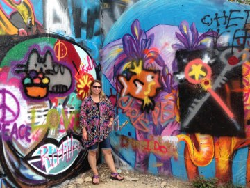 Lindsay at the Hope Outdoor Gallery