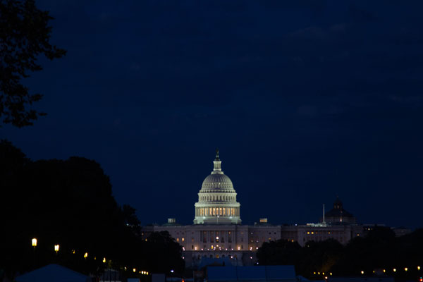 US Capitol Building at Night - Washington DC