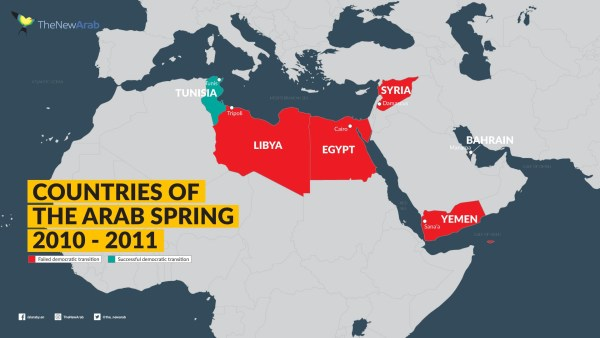 Countries of the Arab Spring 2010-2011 Wave