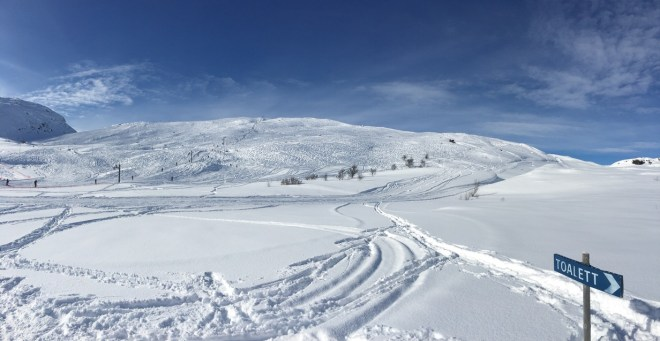 Ski resort in Lappland, with lots of new snow