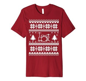 Novelty t-shirts always make a great present, and The New Drummer's very own Ugly Holiday Drumming Tee is no exception. This shirt is perfect to grab for ...