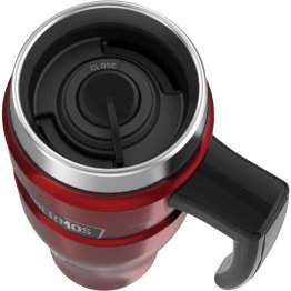 16-Ounce Stainless King Vacuum-Insulated Travel Mug w/ Handle Cranberry