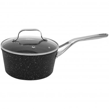 THE ROCK™ by Starfrit® Saucepan with Glass Lid & Stainless Steel Handles (2-Quart)