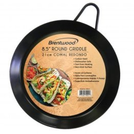 Carbon Steel Non-Stick Round Comal Griddle (8.5-Inch)