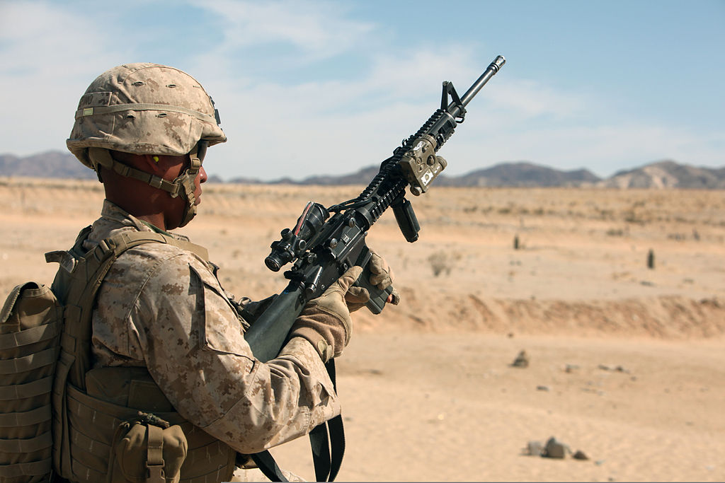 Marine with m16A4