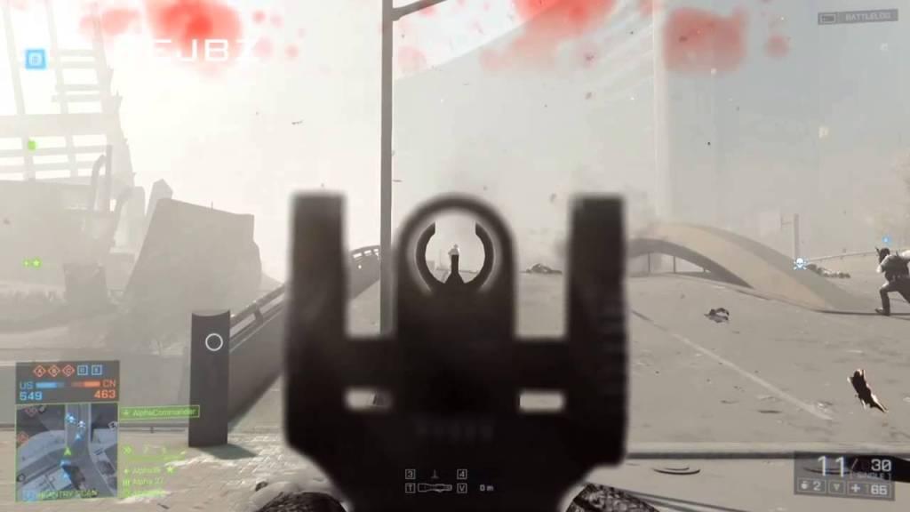 battlefield iron sights