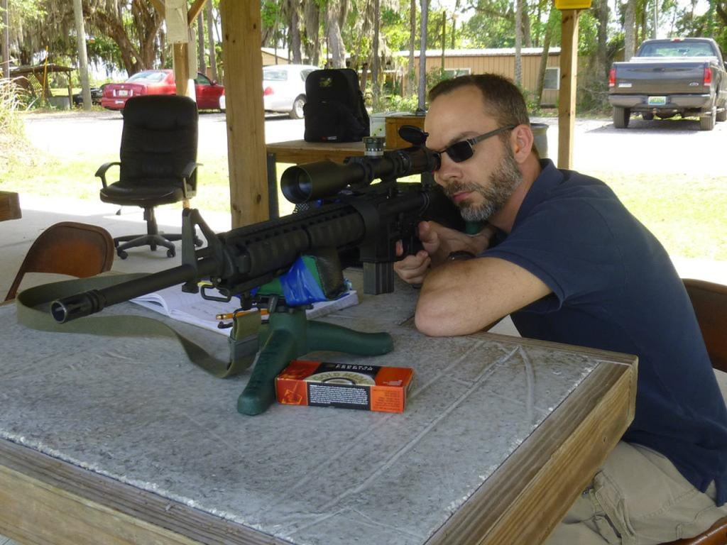 shooting from bench free float ar15