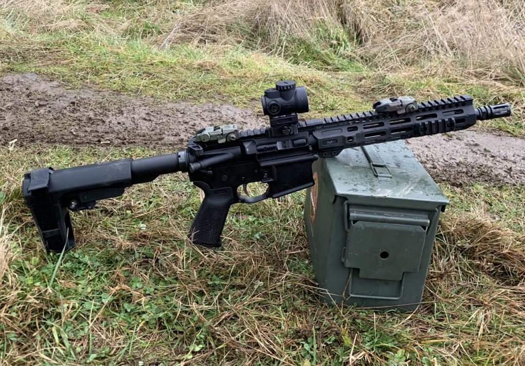 The Midwest handguard looks good on the 10.5 barrel!