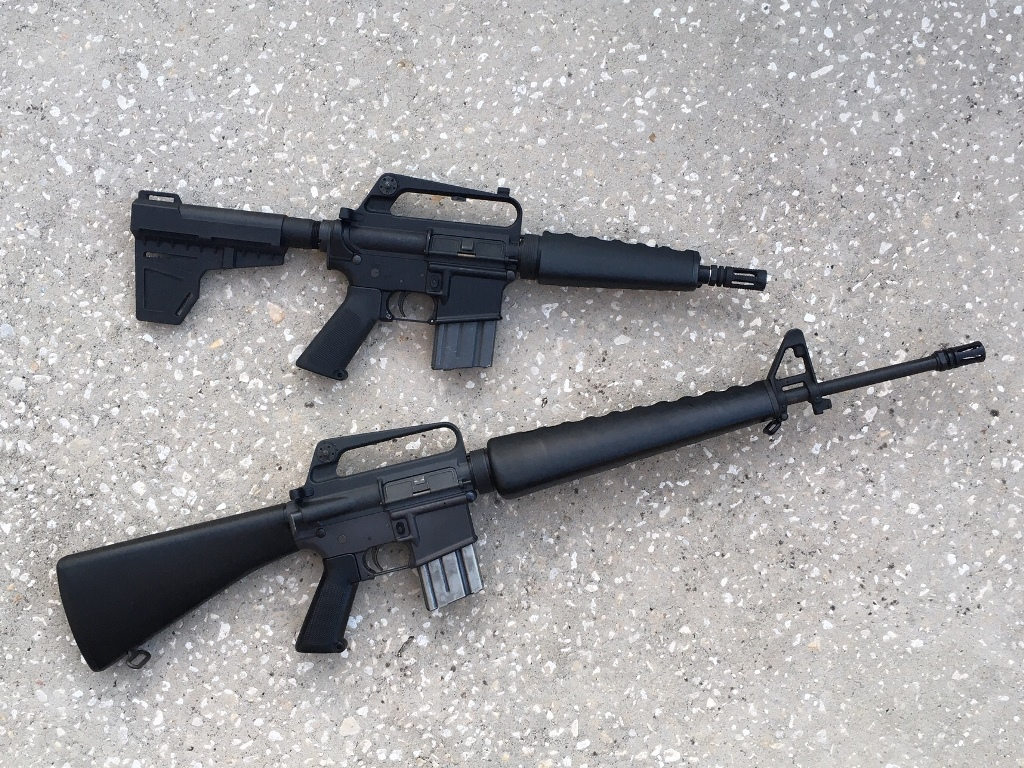 An M16A1 clone and the AR-k as sidekick