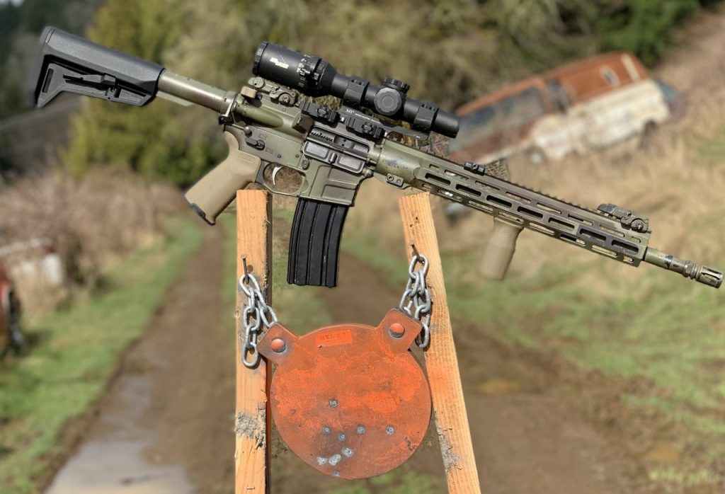 My Tango6T during the Midwest Industries scope mount repeatability test