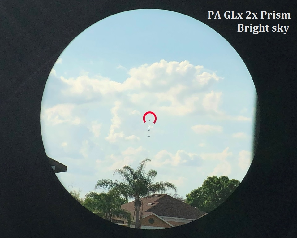 the brightest part of the Florida sky. Pa GLx 2x on full brightness, no problem.