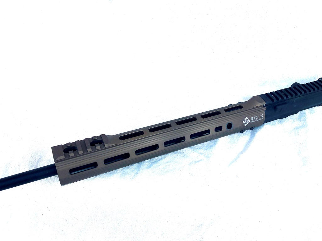 V2 has M-Lok slots all around, with a smooth transition from the upper receiver rail and a short section of rail at the front for a BUIS.  If you want a BUIS, this is the smooth rail to get