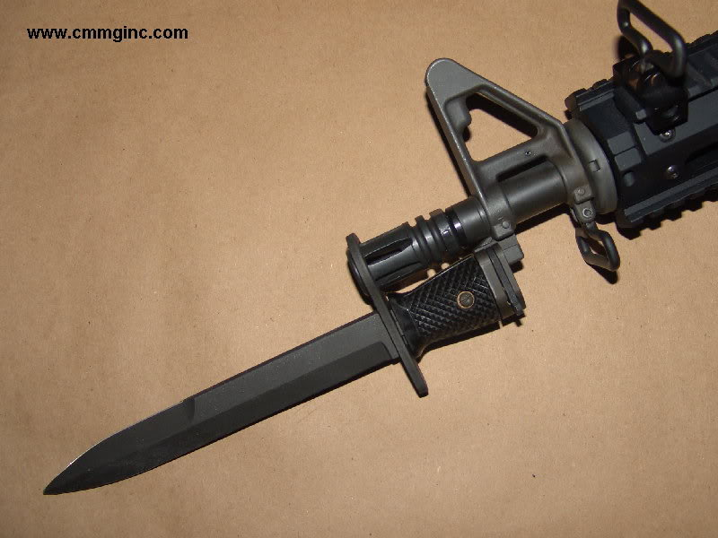 Here's an answer to a short barreled rifle: a cut down bayonet! Unfortunately this is not for sale on cmmgs website.