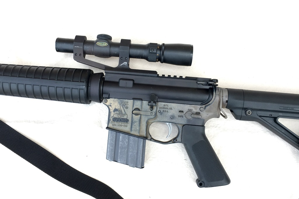 Smooth is simple, simple is good. Optics only carbine with lever-free mount.