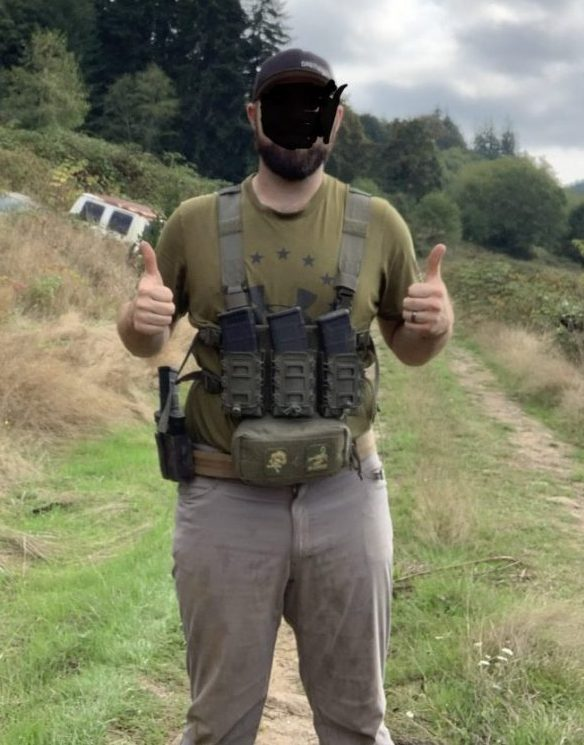 Face edited out for OPSEC reasons. Just kidding, my wife just doesn't want me to show my face. Sorry. Anyways. Chest rig sits low on me.
