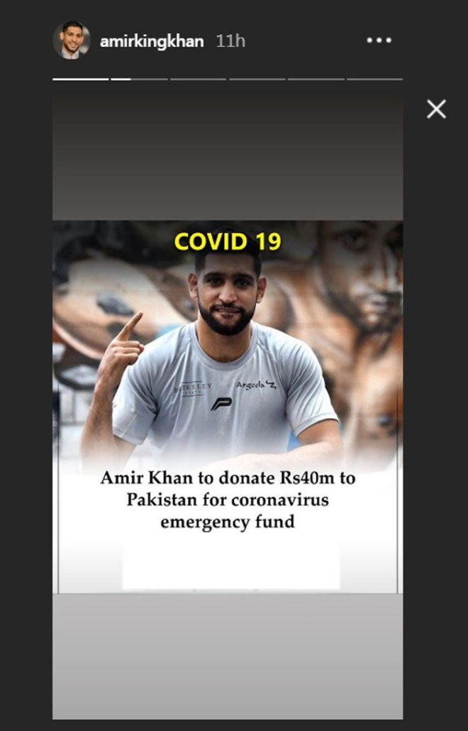 Boxer Amir Khan to donate Rs40 million to Pakistan for coronavirus relief 2