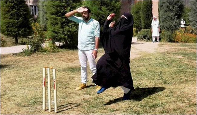 Cricket in burqa: Women cricketers play in hijab in Kashmir