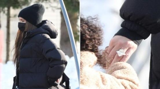 Did Khloe Kardashian just get engaged?  Her tall diamond ring suggests that