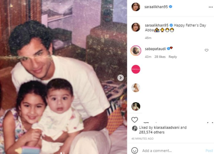 Sara Ali Khan sends love to 'Abba' on Father's Day