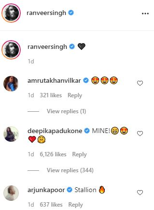 Deepika Padukone drops flirtatious comment on Ranveer Singhs new photo: MINE!