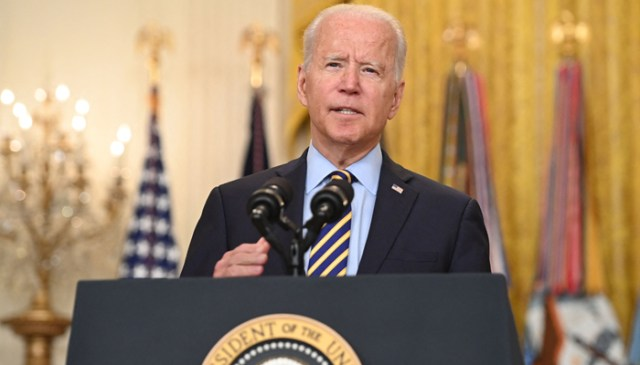 امریکی صدر جو بائیڈن 8 جولائی ، 2021 ، واشنگٹن ، ڈی سی میں وائٹ ہاؤس کے ایسٹ روم سے افغانستان کی صورتحال کے بارے میں گفتگو کر رہے ہیں۔ - اے ایف پی / فائل