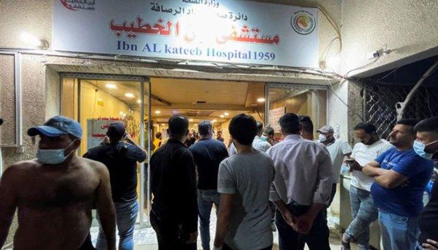 عراق میں کوڈ اسپتال میں آگ لگنے سے درجنوں افراد ہلاک: صحت کے اہلکار
