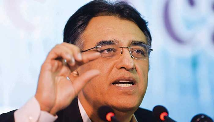 Chief of the National Command and Operations Centre (NCOC) and Minister for Planning, Development and Special Initiatives, Asad Umar. — AFP/File