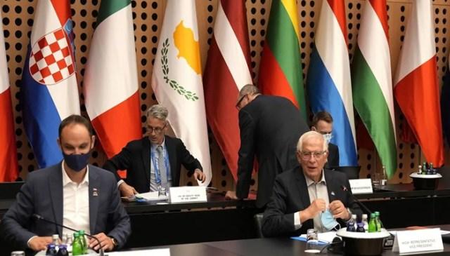 یورپی یونین کے وزرائے خارجہ کا ایک اجلاس سلووینیا میں - اے ایف پی