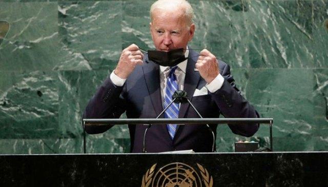 امریکی صدر بائیڈن اقوام متحدہ کی جنرل اسمبلی کے اجلاس سے خطاب کر رہے ہیں۔  اے ایف پی
