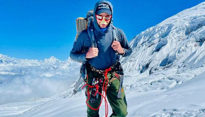 Pakistan mountaineer Shehroze Kashif.