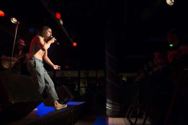 The Wisconaut Performing at Schine Underground, Syracuse University.