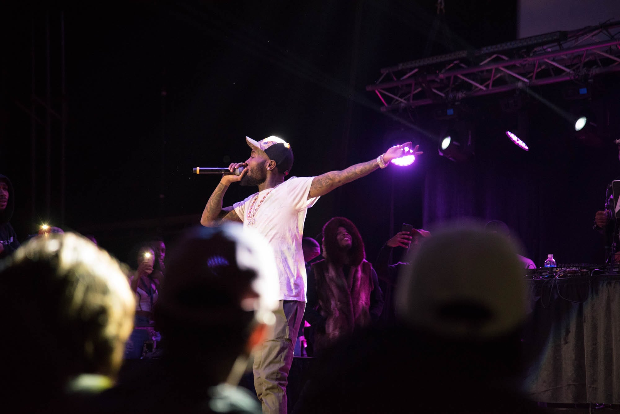 Rapper GoldLink performs at Syracuse University