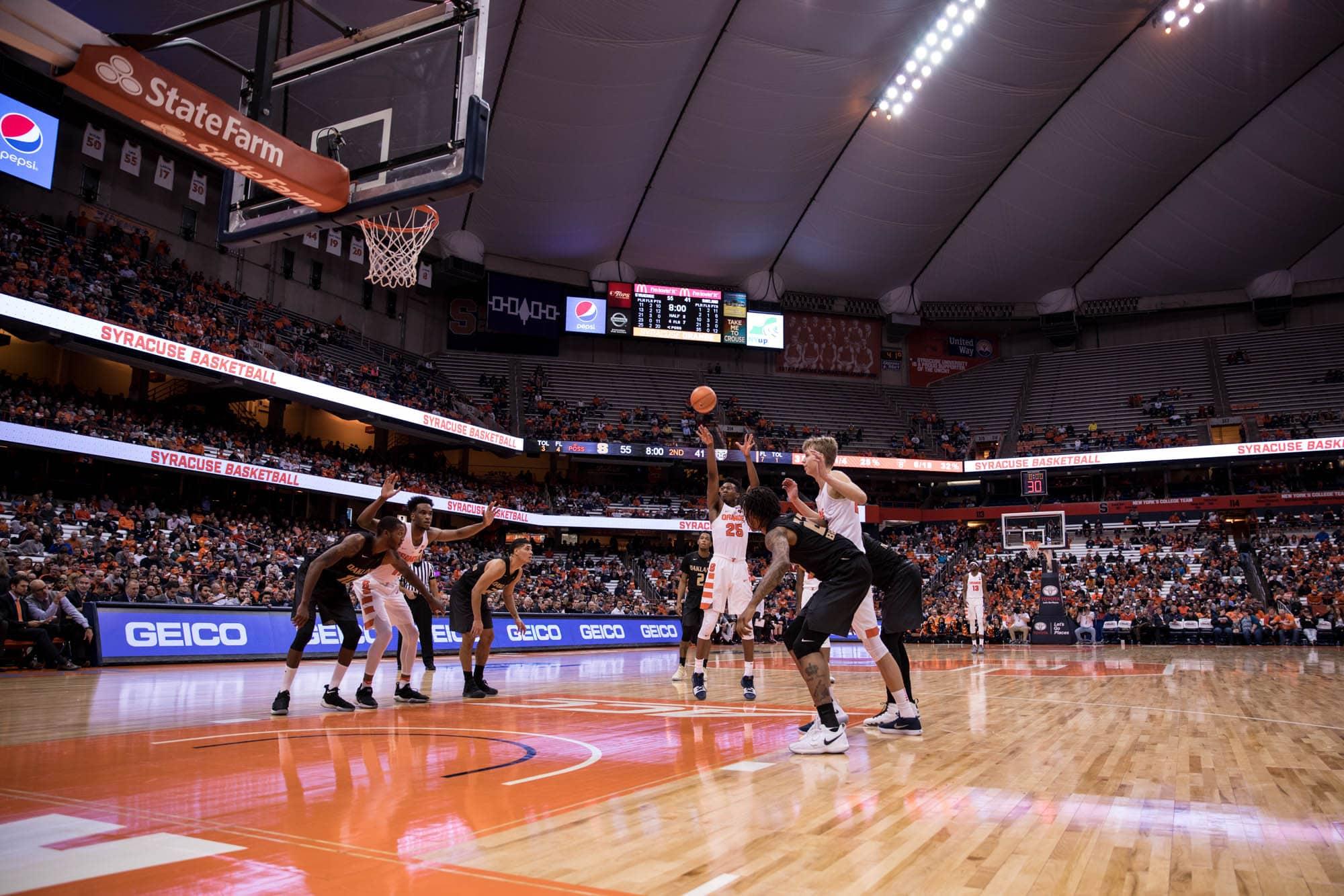 Men's basketball versus Oakland